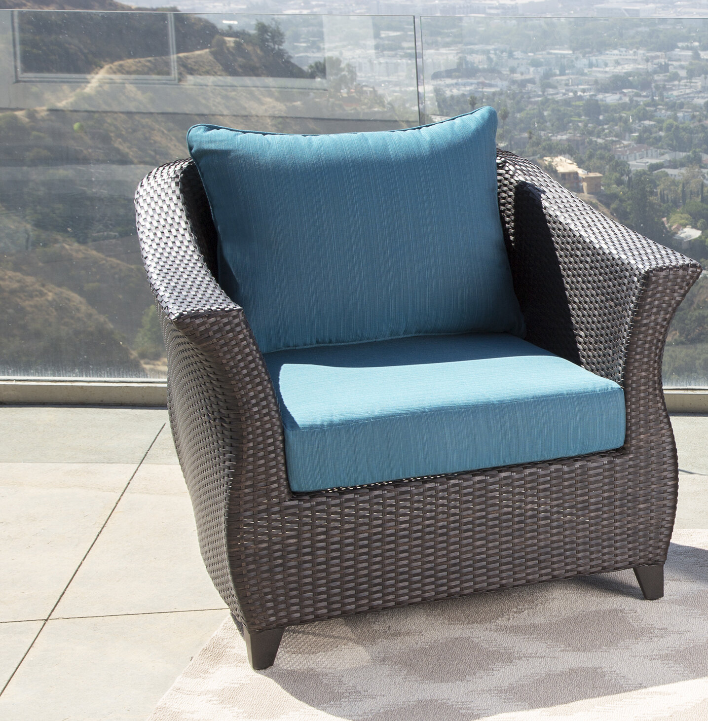 Latitude Run Lemanski Outdoor Wicker Patio Chair & Reviews