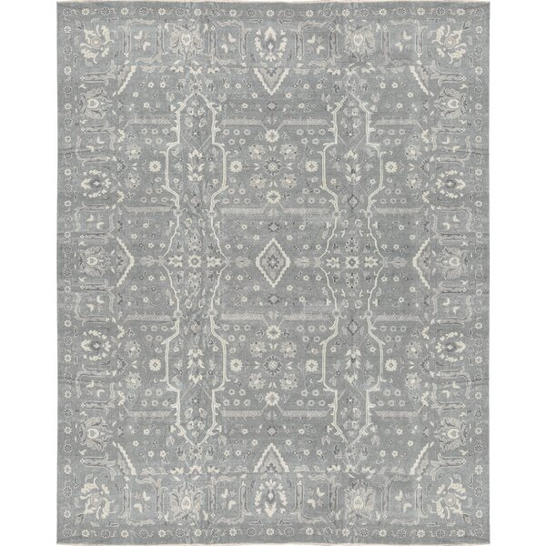 One-of-a-Kind Hand-Knotted Gray 13'3 x 16'3 Wool Area Rug