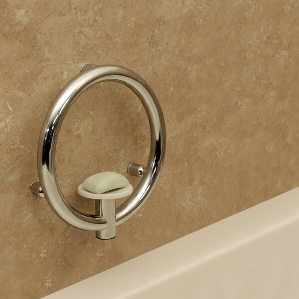 Invisia Soap Dish and Integrated Support Rail by HealthCraft