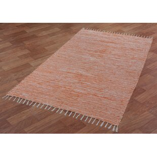Bruges Hand-Loomed Orange/White Area Rug by Bungalow Rose