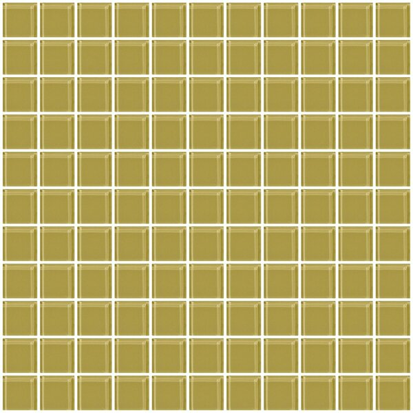 1 x 1 Glass Mosaic Tile in Light Olive Green by Susan Jablon