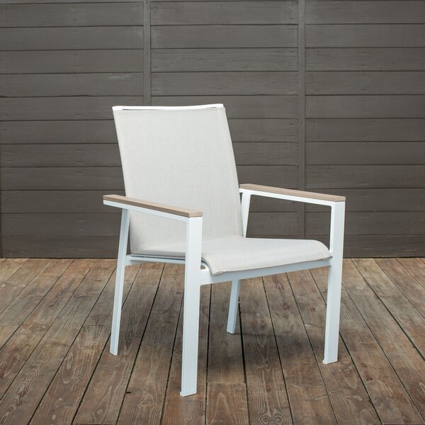 Echo Sling Stacking Patio Dining Chair (Set of 4) by Winston