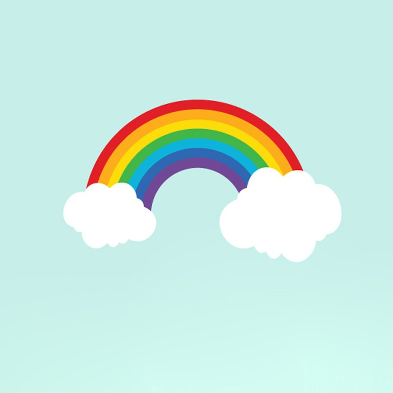 Great Rainbow Wall Decal