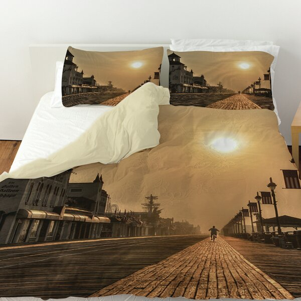 Boardwalk Sunrise Duvet Cover by Manual Woodworkers & Weavers