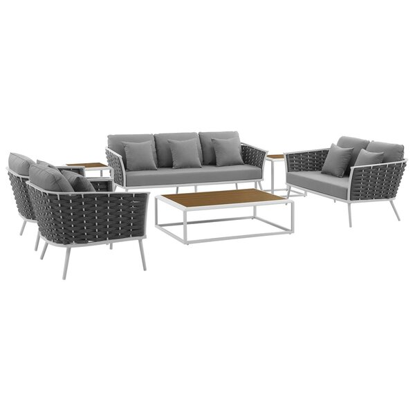 Rossville 7 Piece Sofa Seating Group with Cushions by Ivy Bronx
