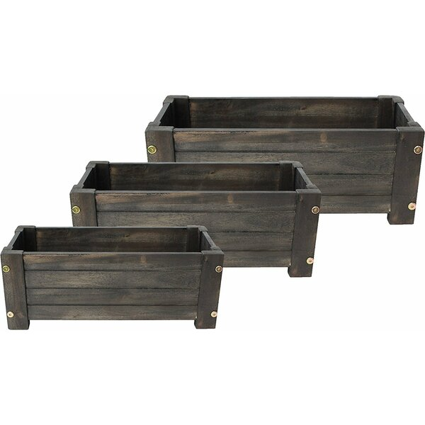 Doughty Wood Barrel 3-Piece Planter Box by Gracie Oaks