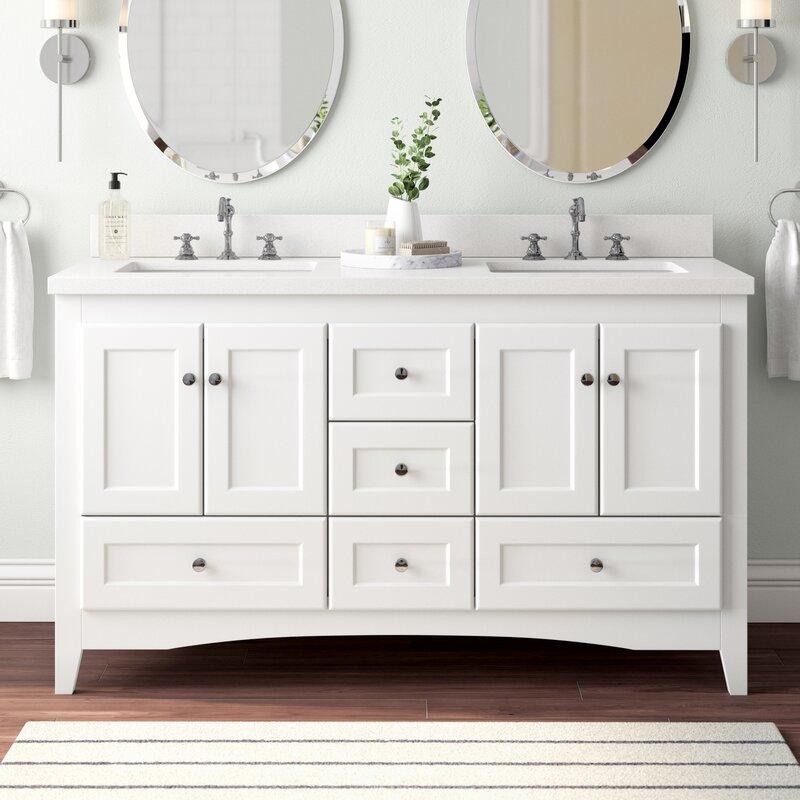 Double Bathroom Vanity Set