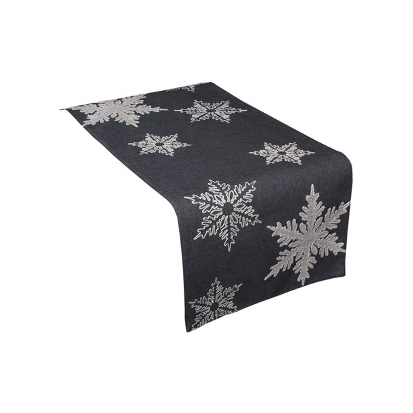 Snowflake Embroidered Christmas Table Runner by Th
