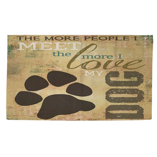 People vs Dog Area Rug by Manual Woodworkers & Weavers