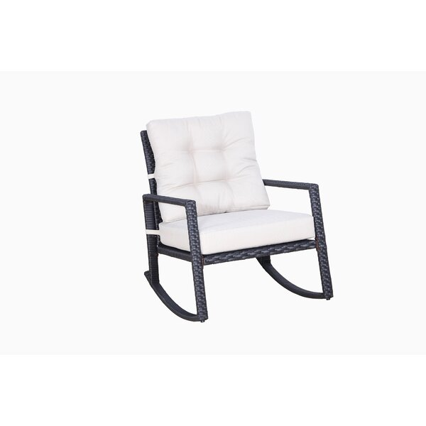 Hilbert Rocking Chair with Cushions by Alcott Hill