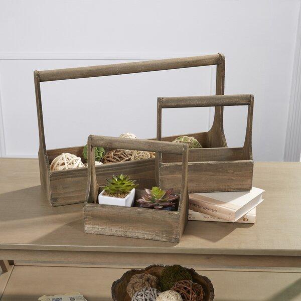 Conroy Wood 3-Piece Planter box Set by Birch Lane™