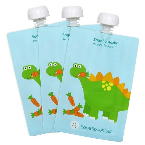 Dinosaur Sage Squeezie Reusable 7 Oz. Food Storage Container (Set of 3) by Sage Spoonfuls