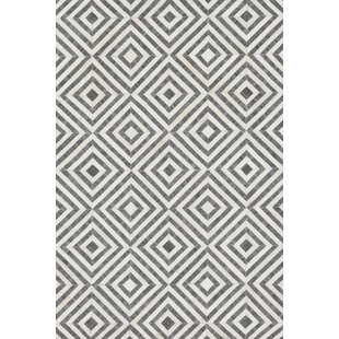 Affordable Winnett Hand-Woven Charcoal/Ivory Area Rug By Brayden Studio