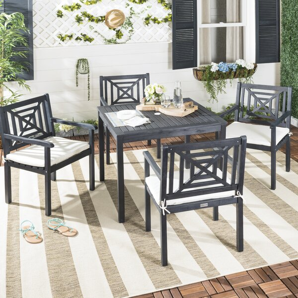 Radnor 5 Piece Dining Set with Cushion by Highland Dunes