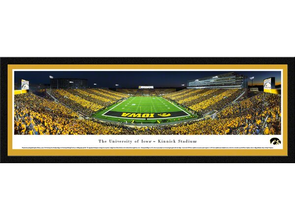 NCAA Iowa, University of - End Zone - Stripe by James Blakeway Framed Photographic Print by Blakeway Worldwide Panoramas, Inc