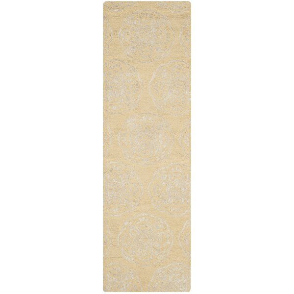 Rudra Beige/Silver Area Rug by Bungalow Rose
