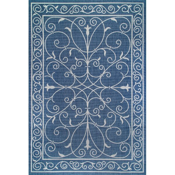 Mikhail Blue Outdoor Area Rug by Alcott Hill