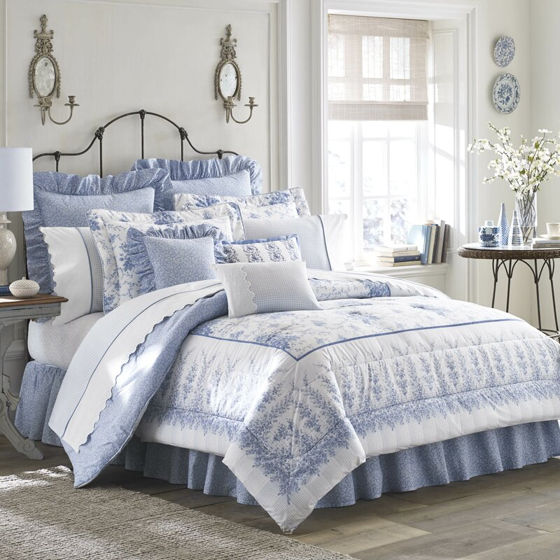 Laura Ashley Home Sophia Cotton Comforter Set By Laura