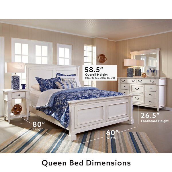 Defelice French Wood Standard Bed by Highland Dunes