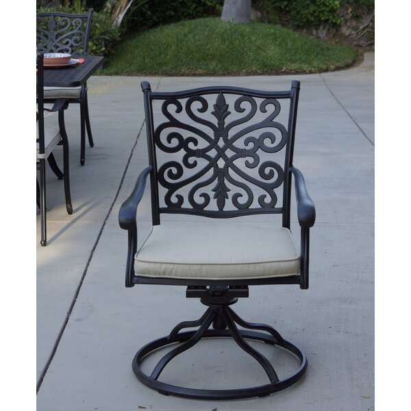 Bumgardner Rocker Swivel Patio Chair with Cushion (Set of 4) by Canora Grey