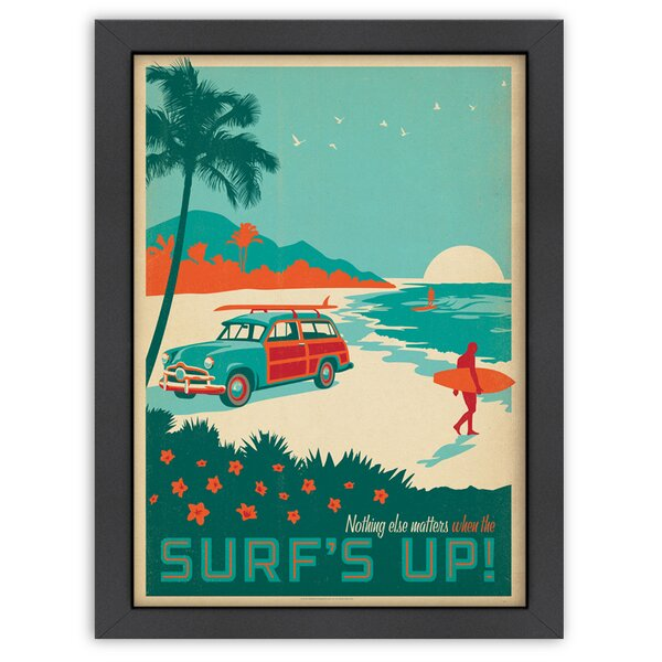 Surfs Up! Framed Vintage Advertisement by East Urban Home