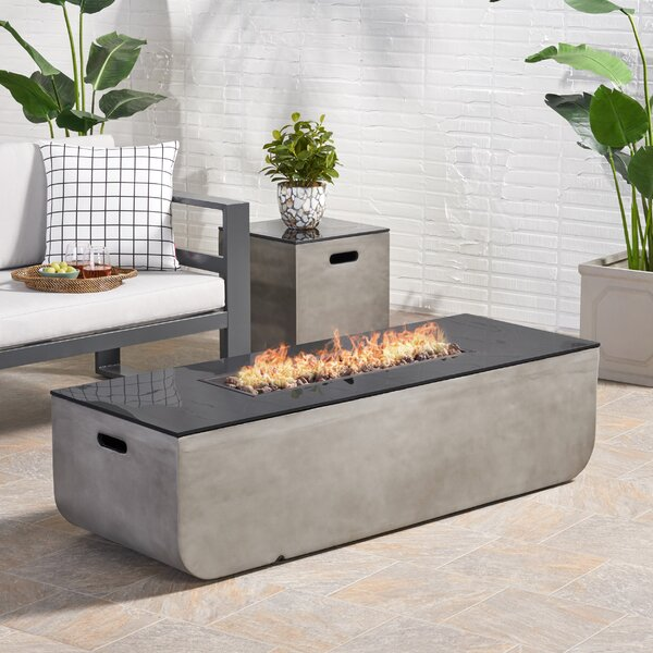 Luvana Outdoor With Tank Holder Concrete Propane Fire Pit By Ebern Designs