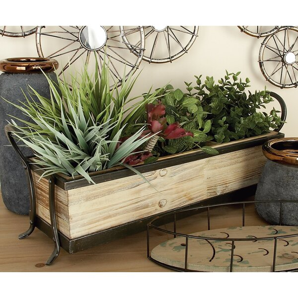 Wood Metal Accent Tray by Cole & Grey