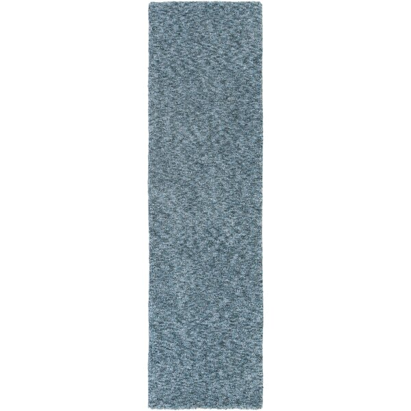 Daub Navy/Light Blue Area Rug by Breakwater Bay