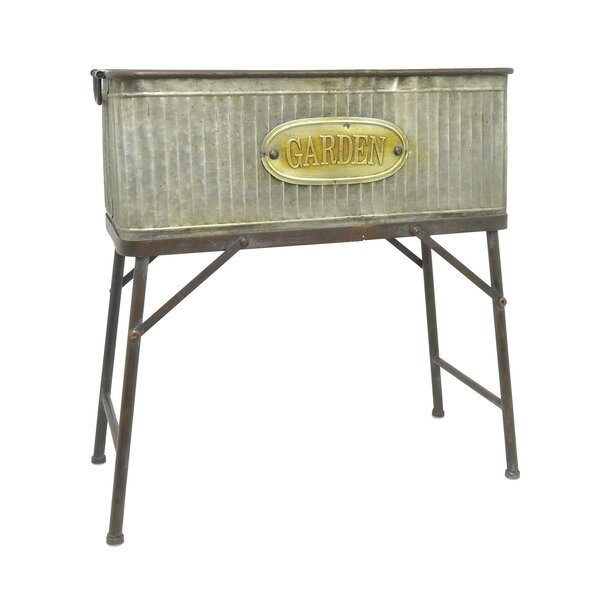 Crume Galvanized Metal Planter Box by August Grove