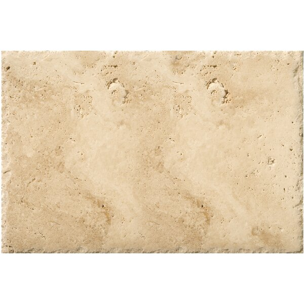 Travertine 16 x 24 Field Tile in Chiseled Umbria Savera by Emser Tile