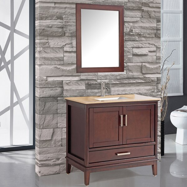 Middleton 30 Single Bathroom Vanity Set with Mirror by Andover Mills