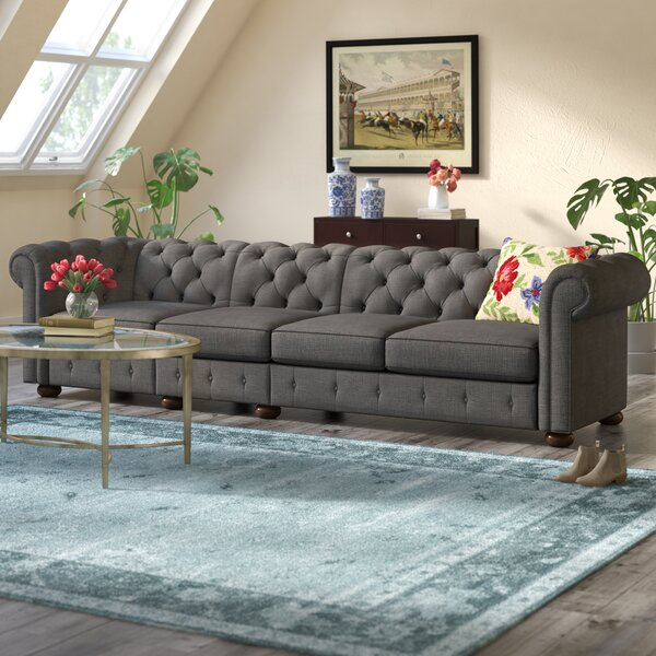 Highest Quality Gowans Chesterfield Sofa by Three Posts by Three Posts