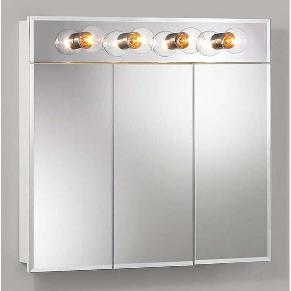 Ashland 30 x 27.75 Surface Mount Medicine Cabinet with Lighting by Jensen