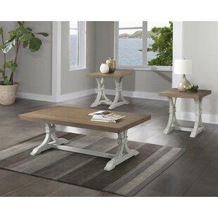 Best Schutz 3 Piece Coffee Table Set ByGracie Oaks