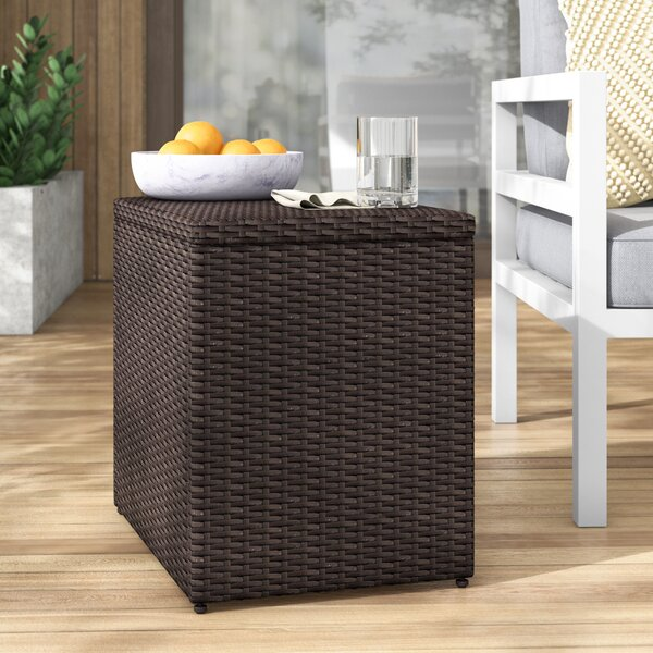 Belton Wicker Side Table by Mercury Row