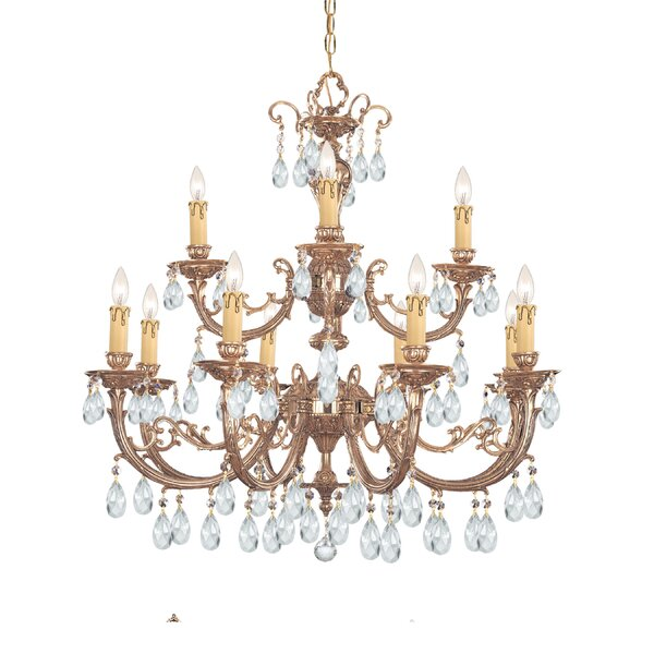 Rossiter 12-Light Candle Style Tiered Chandelier By House Of Hampton
