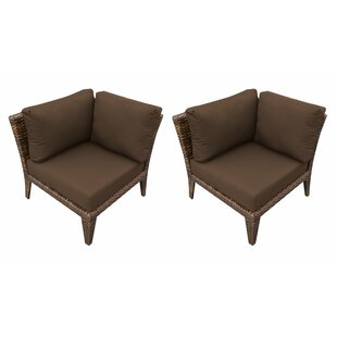 Manhattan Patio Chair with Cushions (Set of 2) By TK Classics