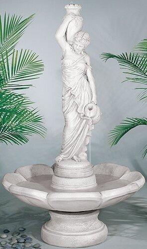 Figurine Concrete Rebecca at Well Petal Fountain by Henri Studio