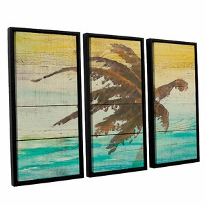 Into The Light II 3 Piece Framed Painting Set by Bay Isle Home