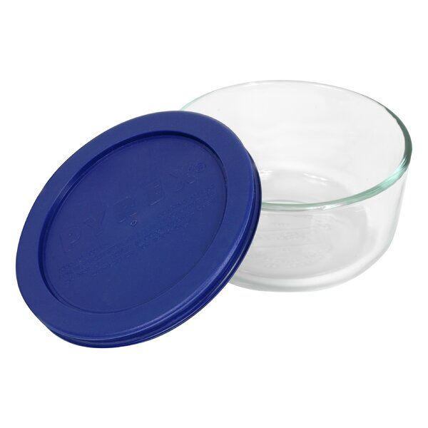 Storage 2-Cup Round Dish with Cover by Pyrex