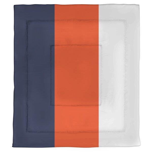 College Stripes Virginia Microfiber Single Reversible Comforter
