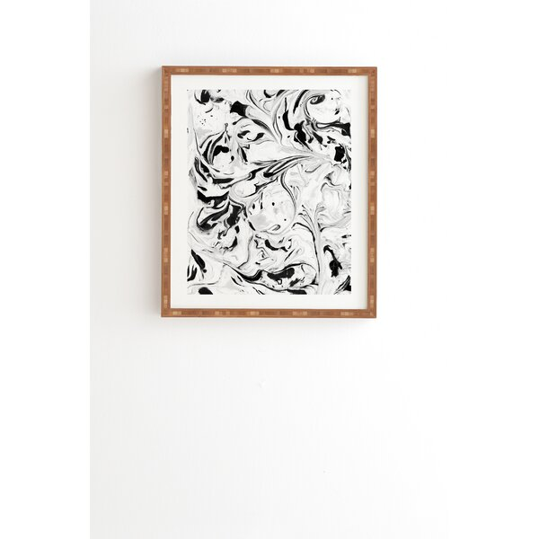 Black and White Marble Framed Painting Print by East Urban Home