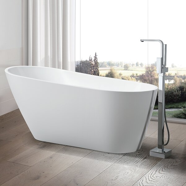67 x 31.5 Freestanding Soaking Bathtub by Vanity A