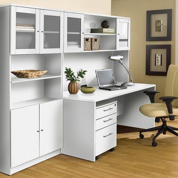 Marta 4 Piece Office Set with Hutch