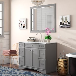Jonina 48 Bathroom Vanity Set with Mirror ByWilla Arlo Interiors