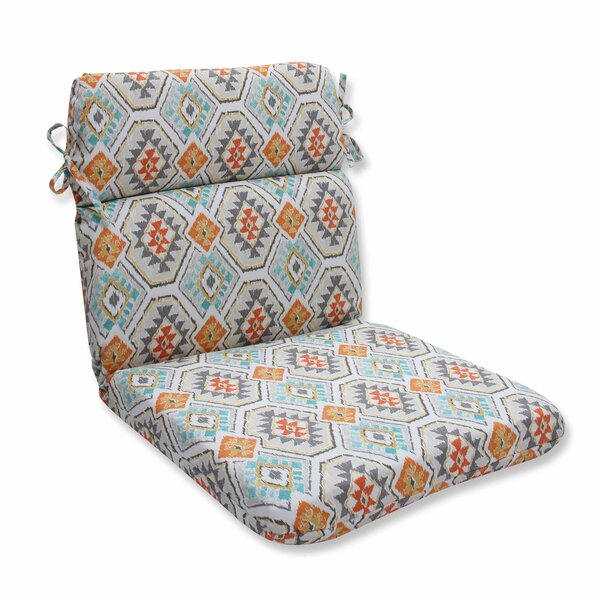 Eresha Oasis Indoor/Outdoor Dining Chair Cushion by Pillow Perfect