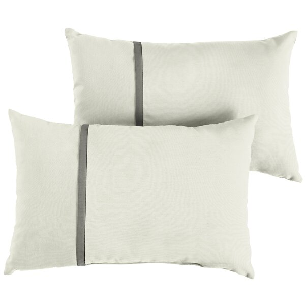 Foerster Indoor/Outdoor Sunbrella Lumbar Pillow (Set of 2) by Charlton Home