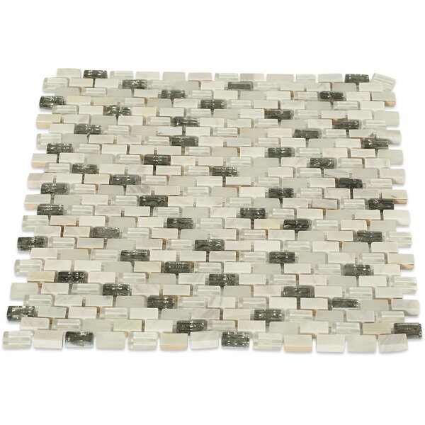 Paradox 0.37 x 0.62 Mixed Material Mosaic Tile in Enigma by Splashback Tile