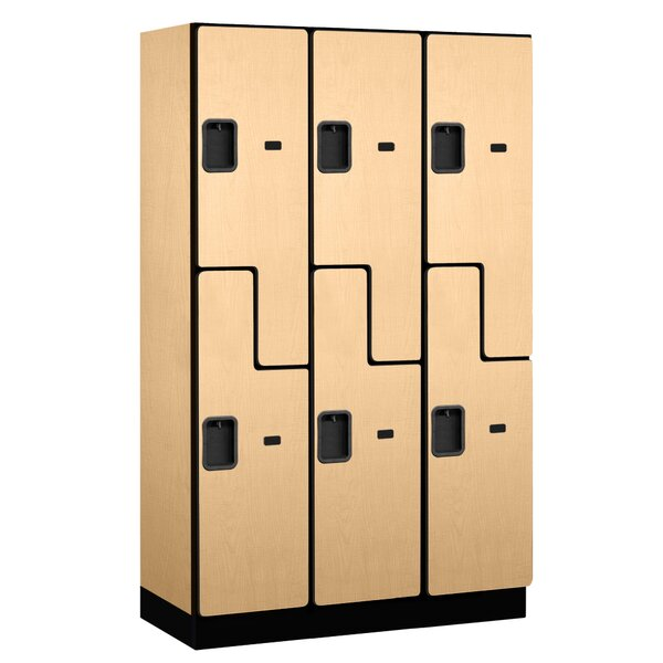 2 Tier 3 Wide Gym and Locker Room Locker by Salsbury Industries