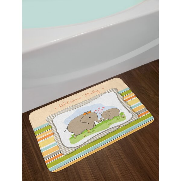 Elephant Nursery Bath Rug by East Urban Home